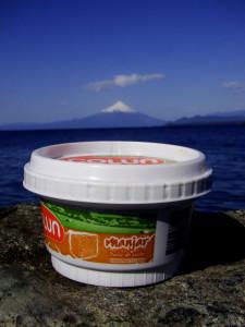 Manjar z wulkanem Osorno w tle